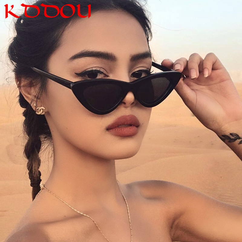 KDDOU Brand fashion designer sunglasses woman Retro cat eye sunglass personalized triangular sunglasses uv400 oculos de sol